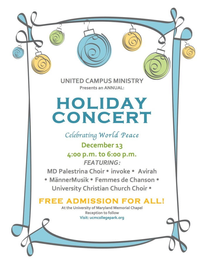 UCM 2015 Holiday Concert Flyer