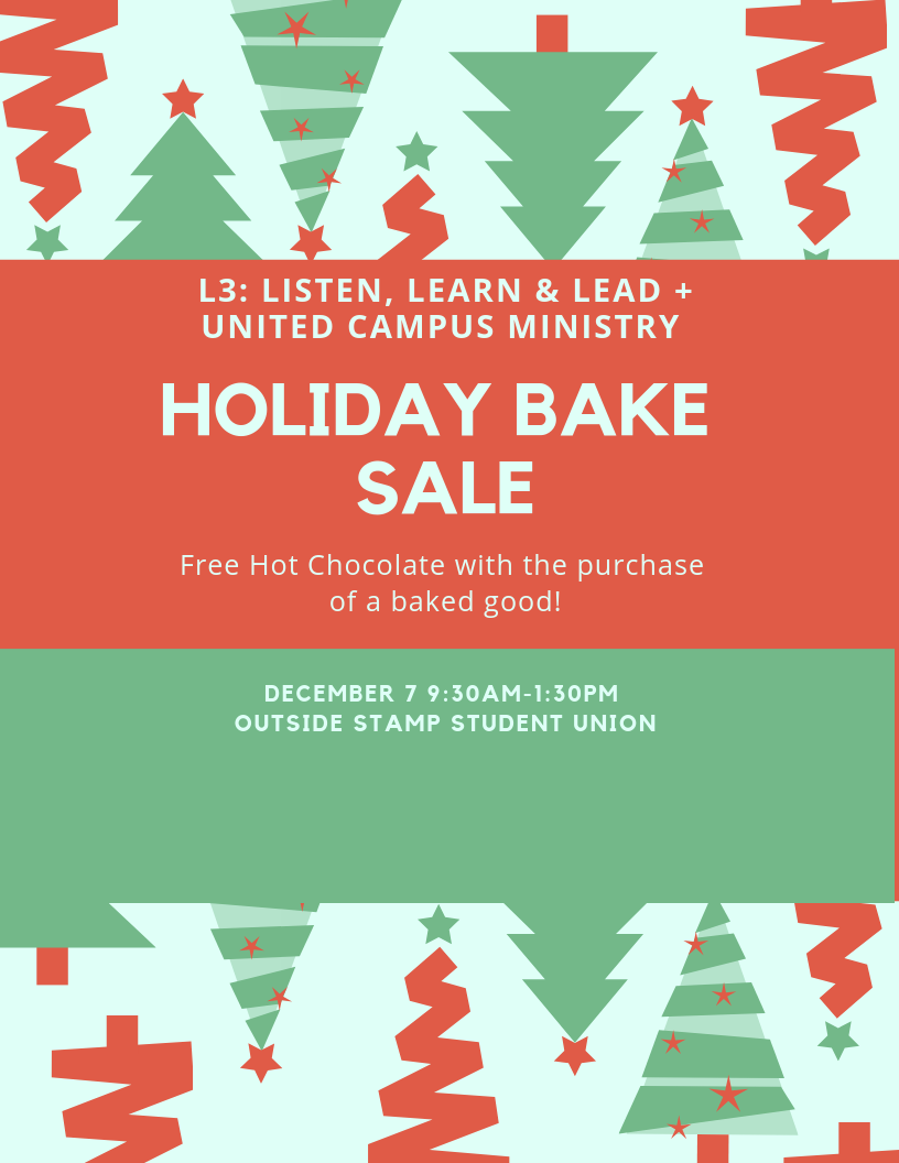 L3 bake sale flyer